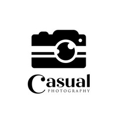 Casual camera photography logo icon template vector