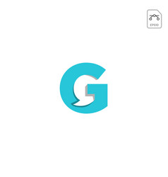 Chat g initial logo icon element isolated vector