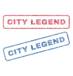 City legend textile stamps vector