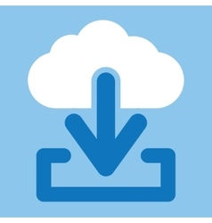 Cloud download icon vector