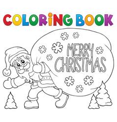 Coloring book santa claus thematics 6 vector