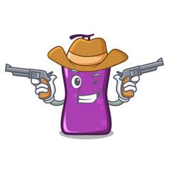 Cowboy shampo character cartoon style vector