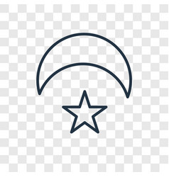crescent moon and star concept linear icon vector image