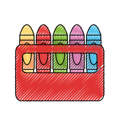 Cute crayons cartoon vector