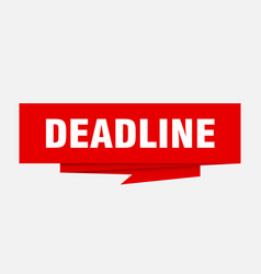 Deadline vector