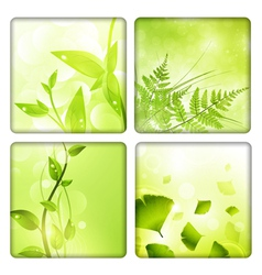 Eco background collection vector