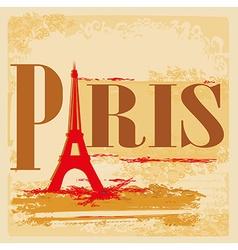 Eiffel tower artistic background Pray For Paris vector