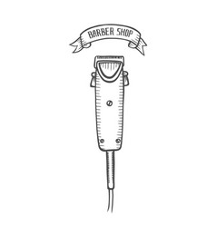 electric hair clipper vector image
