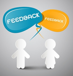 Feedback with Paper People vector image