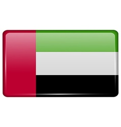 Flags United Arab Emirates in the form of a magnet vector
