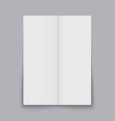 folded sheet paper isolated vector image