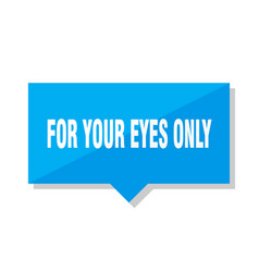 For your eyes only price tag vector