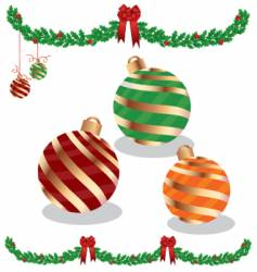 garland and ornaments vector image