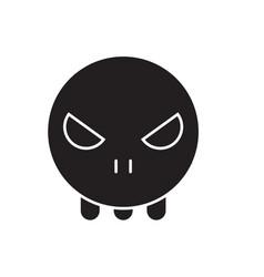 ghost emoji black concept icon ghost emoji vector image