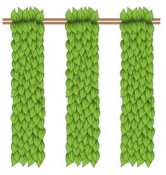 green leaves vertical vector image