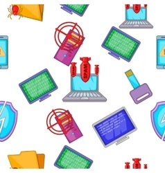 Hacker pattern cartoon style vector image