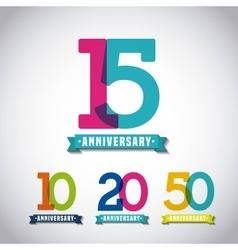 Happy anniversary design vector