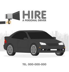 hire a personal driver ads template vector image
