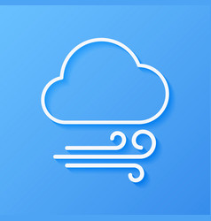 Icon weather wind and cloud vector