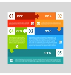 Infographics options banner steps set vector