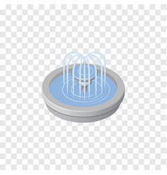 Isolated fountain isometric park decoration vector