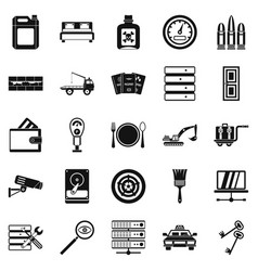 keys icons set simple style vector image
