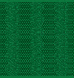 Knit green pattern vector
