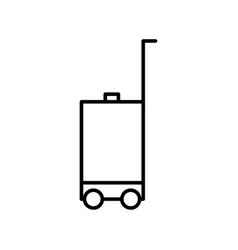 luggage outline icon vector image