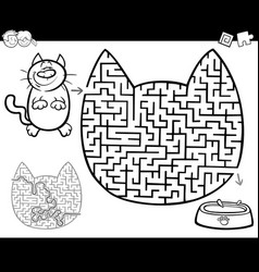 maze or labyrinth activity vector image