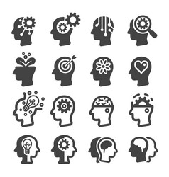 mind icon vector image