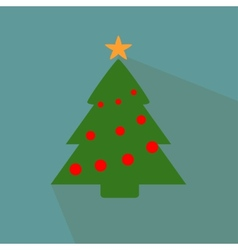 Nice Christmas tree on the blue background vector image