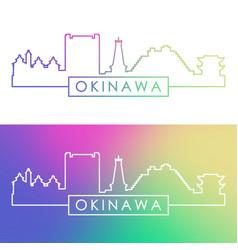 okinawa skyline colorful linear style editable vector image