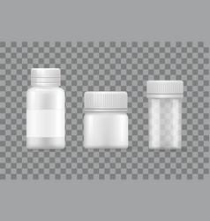 plastic silver bottles covers designed for liquids vector image