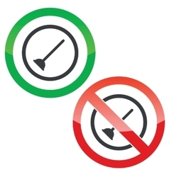Plunger permission signs vector