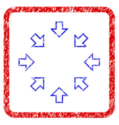 pressure arrows grunge framed icon vector image