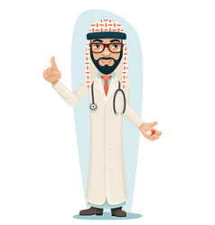 Quality treatment arab keffiyeh traditional vector