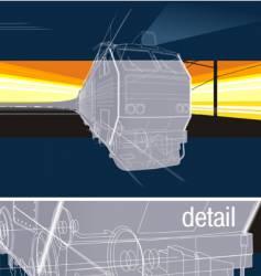 Railway background vector