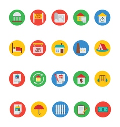Real Estate Icons 6 vector image