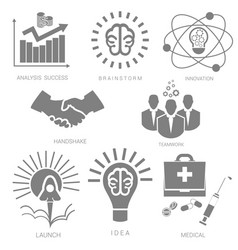 set icons for infographics vector image