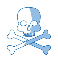 skull bones danger poison laboratory shadow vector image