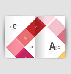 Squares and rectangles a4 brochure template vector