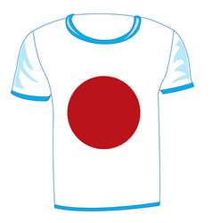T-shirt flag japan vector
