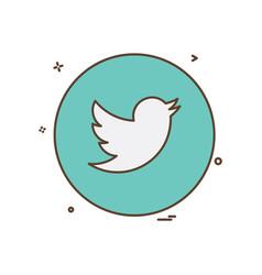 Twitter icon design vector