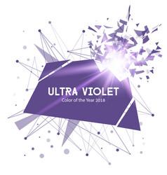 Ultra violet color explosion banner vector