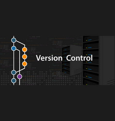 Version control programming computer server coding vector