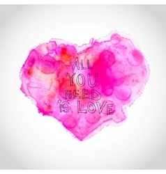 Watercolour heart with love letters vector