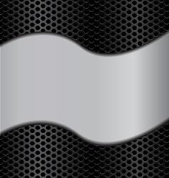 wave metal texture vector image