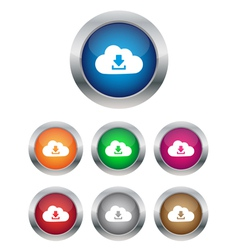 Download from cloud buttons vector image