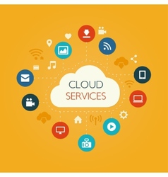 flat design composition with cloud vector image
