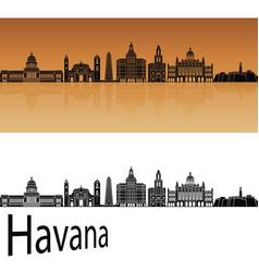 havana v2 skyline vector image vector image